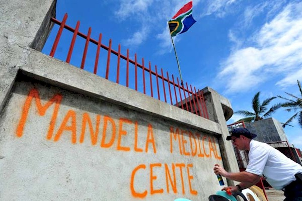 Mandela Medical Centre set up by Rescue South Africa in the Philippines
