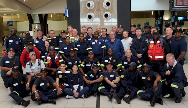 Rescue SA leaves for the Philippines